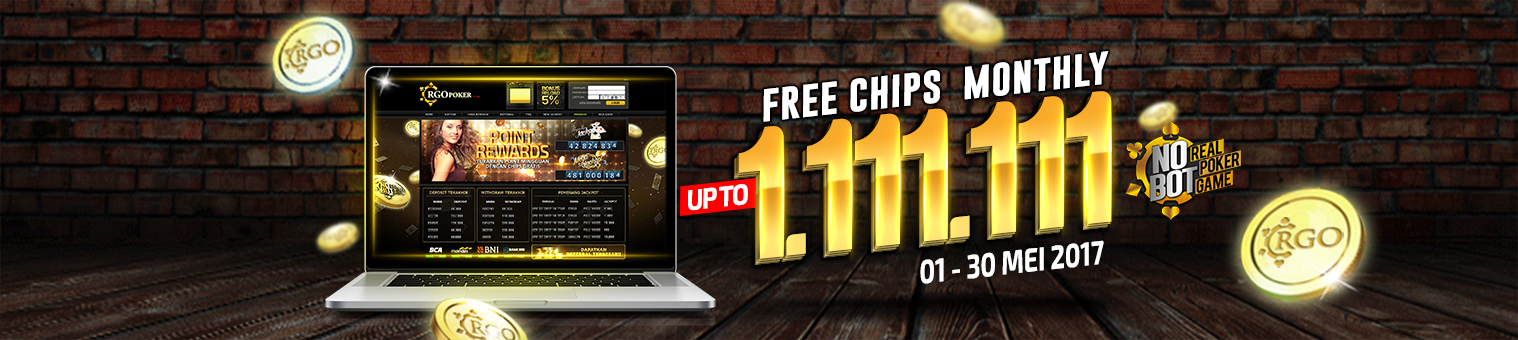 Free Monthly Chips Up To 1.111.111 - RGOPoker.com